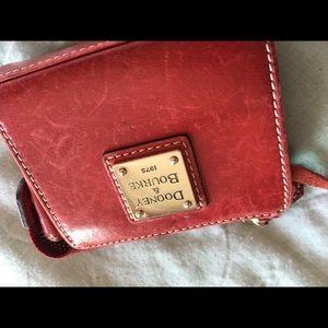 Red leather Dooney & Bourke change purse wallet